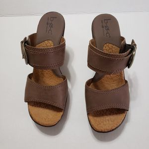 B.O.C. brown wedges size 9